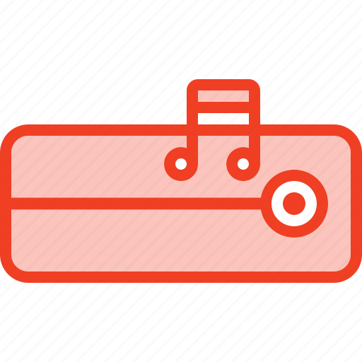 amplifier, filled, media, music, outline, song, storage icon