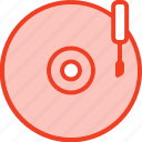 disk, filled, media, music, outline, vinyl icon