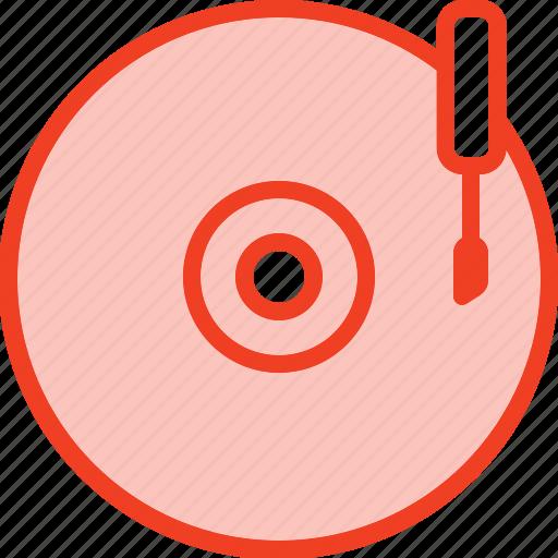 disk, filled, media, music, outline, vinyl icon
