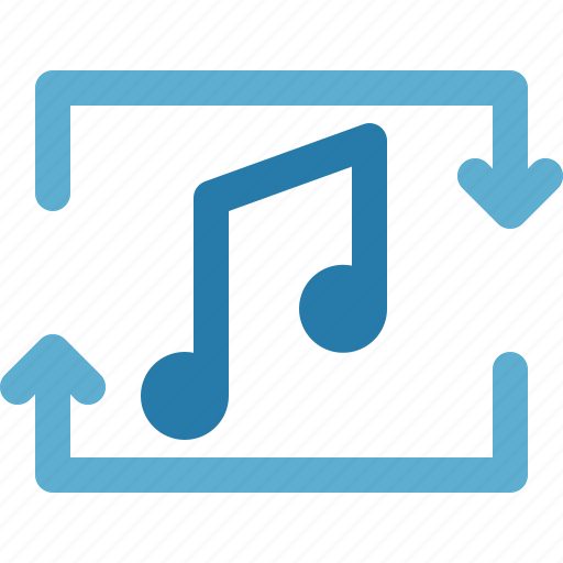 apps, music, music player, repeat, song icon