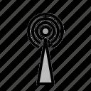 signal, station, transmitter, wifi icon