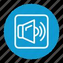 media, music, player, speaker, volume