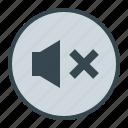 media, music, off, silent, sound icon
