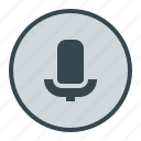 media, microphone, music, voice icon