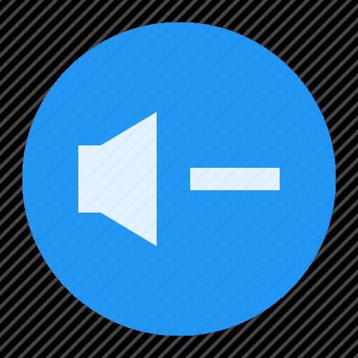 down, media, music, sound, volume icon