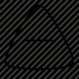 close, minus, triangle icon