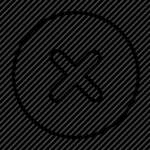 cancel, close, cross, delete, musicplayer, remove icon