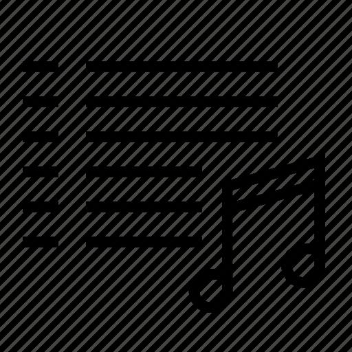 audio, lyrics, music, musical notes, notes icon