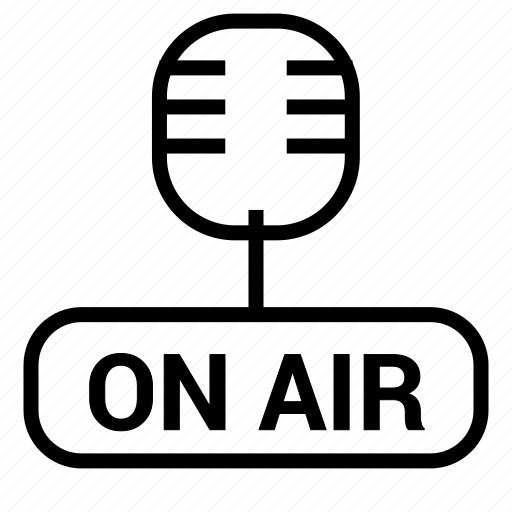 mic, microphone, on air, radio, speaker icon