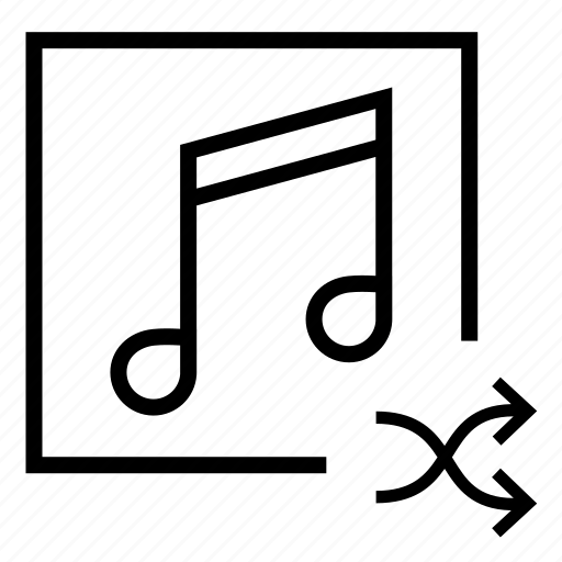 audio, audio shuffle, music, music shuffle, notes, play shuffle, song shuffle icon