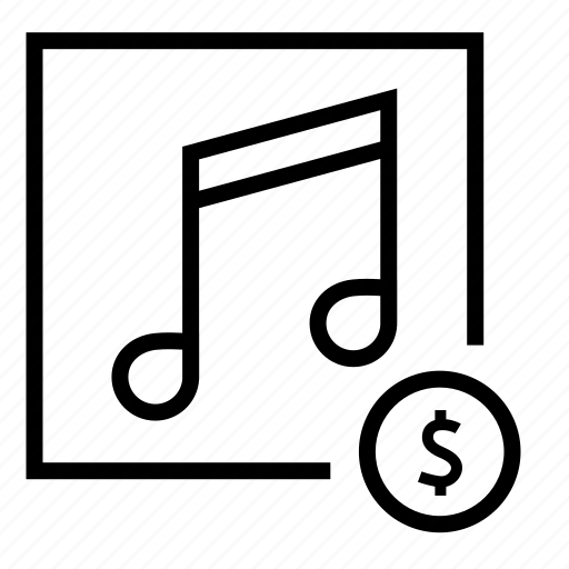 audio purchase, music, music notes, purchase, sound icon