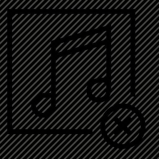 delete, remove, remove audio, remove music, remove song icon