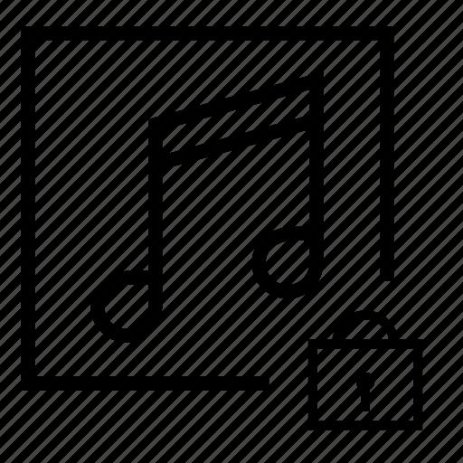 audio, audio blocked, audio lock, locked, music, music lock icon