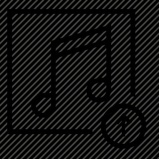 audio, audio upload, music, notes, song upload, upload music icon