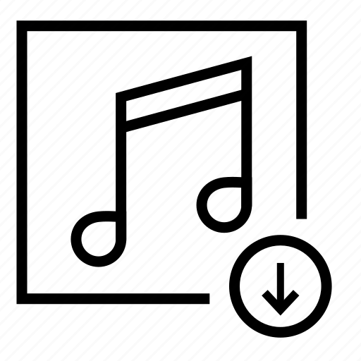 audio, download music, music, notes, song download icon