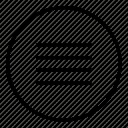 donut, list, menu, nav, navigation list, play list icon