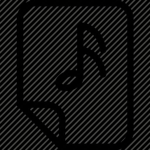 document, list, music, music file, music folder, playlist, songs list icon