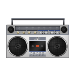 Boombox, white icon | Icon search engine