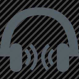 earphone, media, music, sound icon