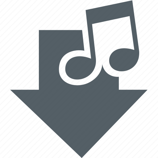 arrow, media, music, note, sound icon