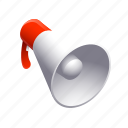 loud, megaphone, music, promote, scream icon