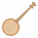 instrument, banjo, musical, string