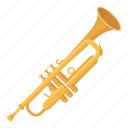 instrument, musical, trumpet, viola, wind icon