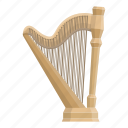 harp, instrument, musical, plucked, string icon