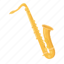 instrument, jazz, musical, saxophone, solo, wind icon
