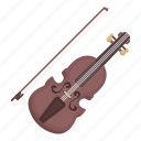 bow, instrument, musical, string, violin icon