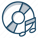 audio cd, cd drive, compact disc, data storage, digital cd, music cd icon