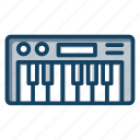 electrical instrument, keyboard synthesizer, musical keyboard, piano, synth icon