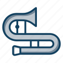 brass, cornet, marching band, music instrument, orchestra, trombone, trumpet icon