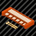 isometric, jazz, logo, minimal, music, object, synthesizer icon