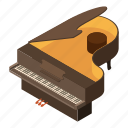 concert, instrument, isometric, logo, music, object, piano