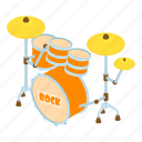 beat, drum, drummer, drumstick, isometric, logo, object