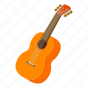 acoustic, electric, guitar, isometric, logo, music, object