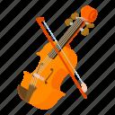 alto, antique, bass, contrabass, isometric, logo, object