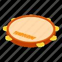 drum, isometric, logo, object, samba, tambourine, traditional