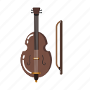music element, double bass, orchestra, music equipment, music instruments, viola, violin icon