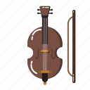 music element, orchestra, musical, music equipment, music instruments, cello, violin icon
