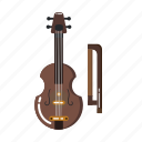 music element, orchestra, musical, music equipment, music instruments, viola, violin icon