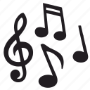 composition, melody, song, sound icon