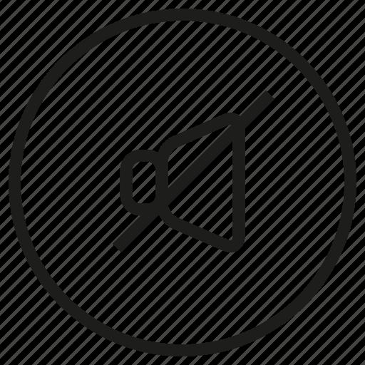 music, musical, mute2, outline, studio icon