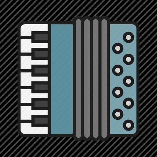 accordion, music, musical tool, play on accordion icon