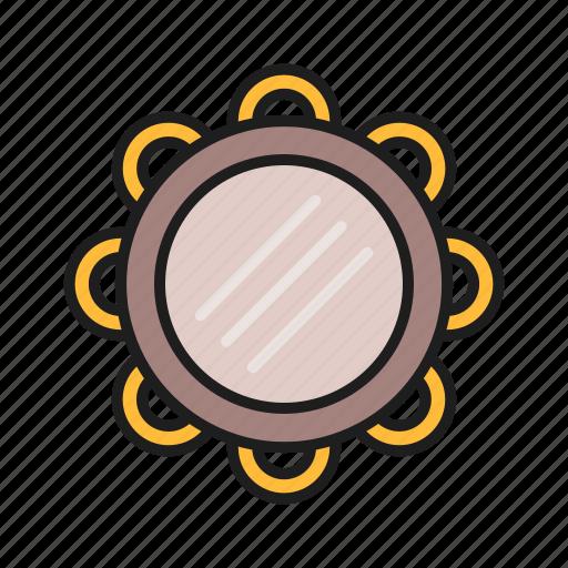 music, play, tambourine, tool icon