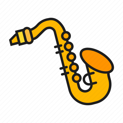 music, musical, play on saxophone, saxophone icon