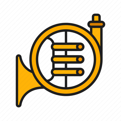 musical, orchestra, play, trumpet icon