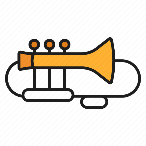 musical instruments, play, song, trumpet icon