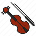 music, musical instrument, play, violin icon